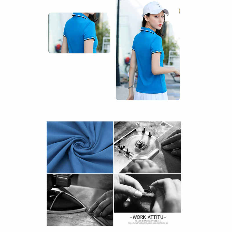 ファッション夏刺繍ビッグ馬女性のターンダウン襟カジュアルポロシャツ半袖ソリッドコットントップス