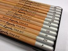 MARCO RAFFINE juego de 12 lápices de dibujo caja de lata MARCO 3000-12TN caja de lata 8B,7B,6B,5B,4B,3B,2B,B,HB,F,H,2H