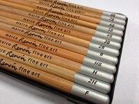 Marco rafline conjunto de 12 peças desenhando lápis caixa de estanho marco 3000-12tn caixa de estanho 8b  7b  6b  5b  4b  3b  2b  b  hb  f  h  2h