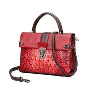 women bag genuine leather shoulder bags crocodile pattern luxury handbags women bags designer ladies real leather handbag