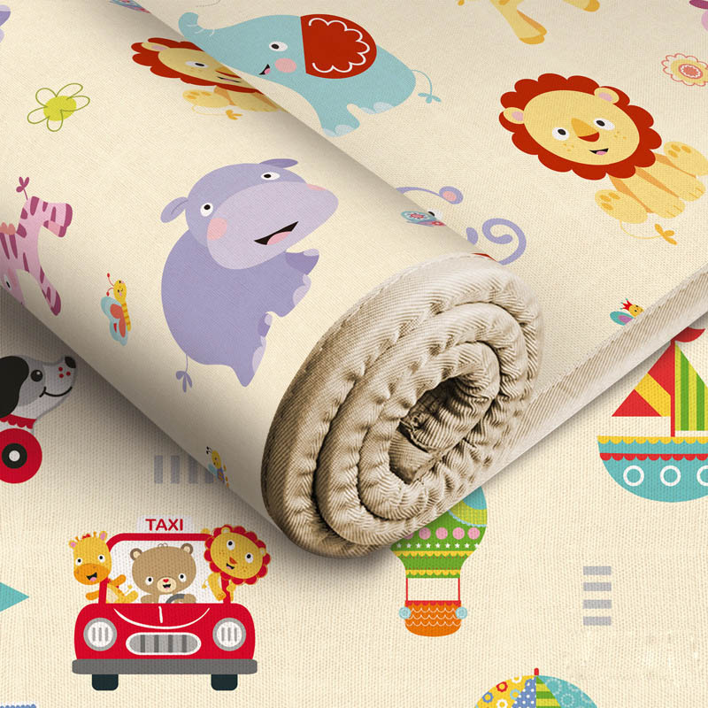 180*150*0.5CM Baby Play Mat Eco-friendly Crawling Mat Cartoon Non-slip Carpet Living Room Mat Early Education Kids Activity Mat