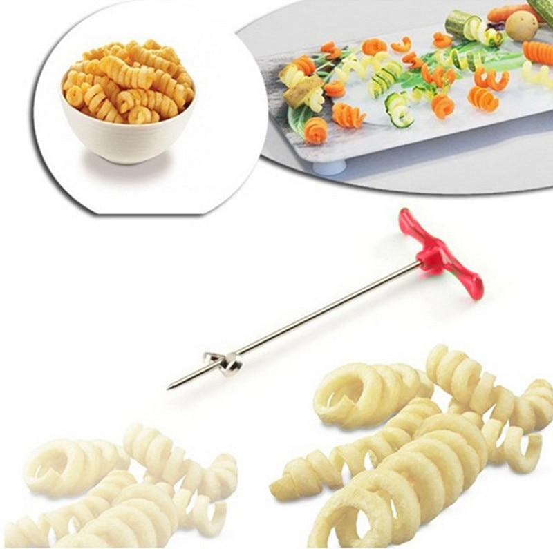 Кухонный нож для овощей, спиральный нож, инструмент для резьбы, измельчитель для картофеля, моркови, огурцов, салата, ручной спиральный реза...