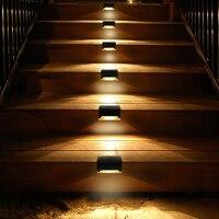1/4/10/20pcs led solar stair light waterproof outdoor garden passage courtyard terrace guardrail step light landscape light