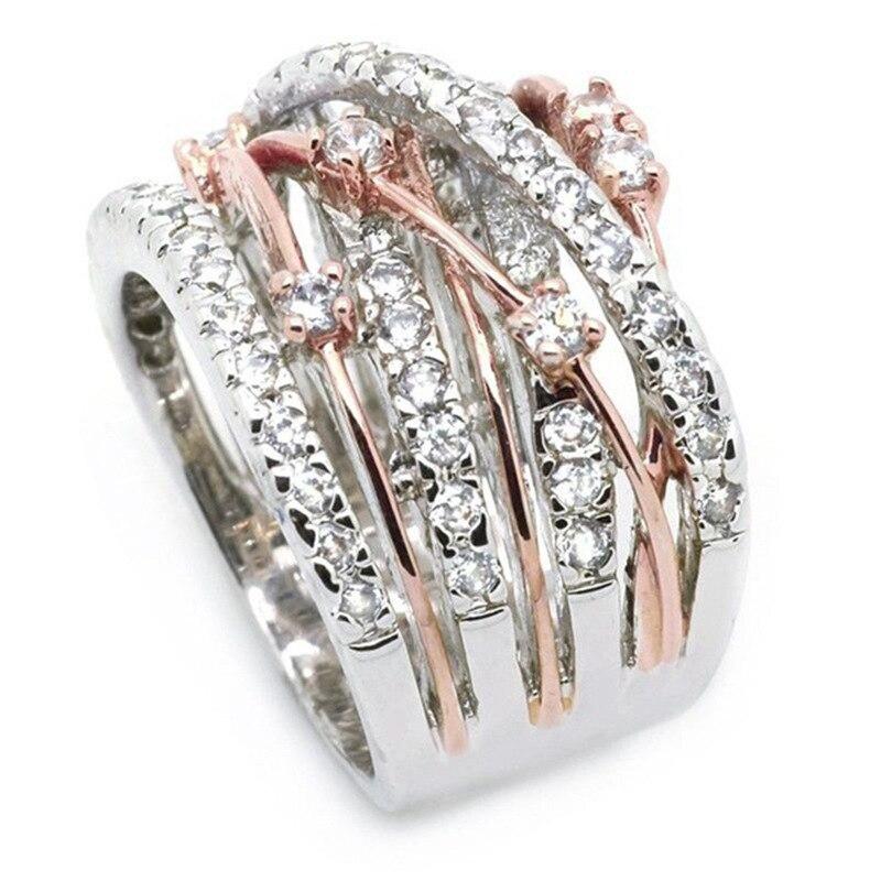 Silver Color S925 Jewelry Diamond Ring with Box Anillos Wedding Gemstone for Women Full Diamond Topaz Silver Ring Bizuteria