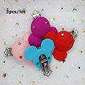 3 шт., силиконовые детские игрушки в форме сердца