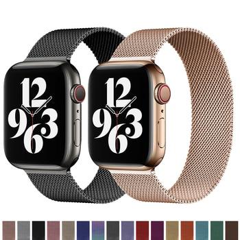 Фото - Milanese Loop Stainless Steel Metal Watch Band Strap for Apple Watch SE Series 6 5 1 2 3 4 42MM 38MM 44MM 40MM ремешок apple milanese loop для apple watch series 3 4 5 6 se графитовый myaq2zm a 44мм
