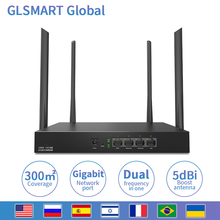 AC1200M Wireless WiFi Router GLW15E with 2.4G/5.0G High Gain Antenna Home Coverage Dual Band Wifi Repeater,App Control