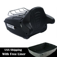 """Motorcycle 13.7"""" King Pack Trunk Rack Backrest For Harley Tour Pak Touring Road King Electra Street Glide FLHTCU FLHRC 2014 2019