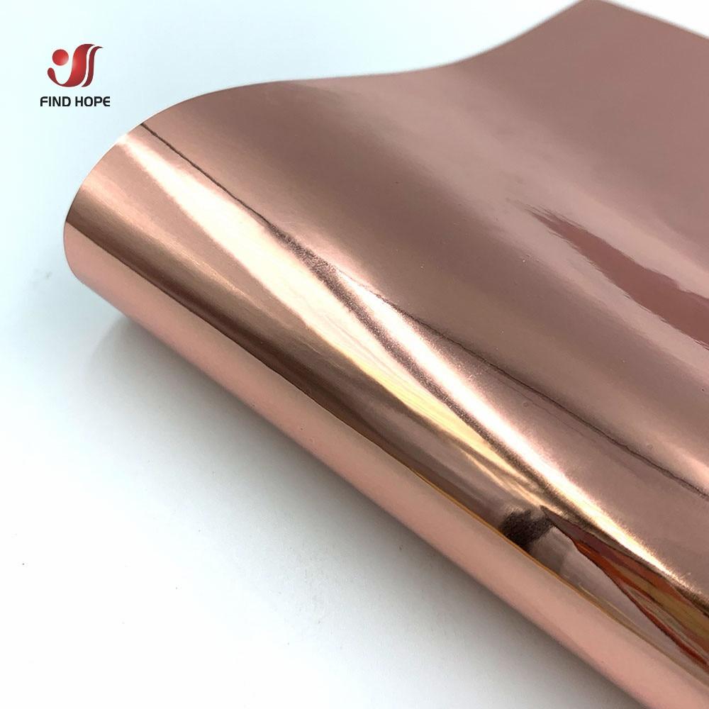 Chrome ouro rosa adesivo ofício permanente vinil rolo 12