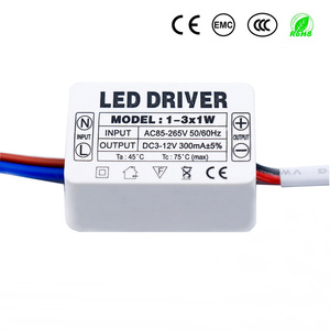 LED Driver 300mA 1-3W 3-5W 4-7W 8-12W 12-18W 18-25W 25-36W LED Power Supply Unit AC90-265V Lighting Transformers For LED DIY(China)