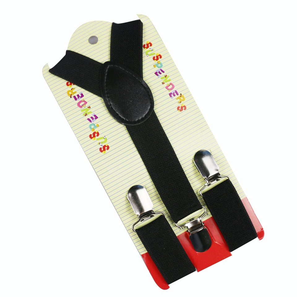 New Toddler Kids Leather Adjustable Black Suspenders Braces Elastic Belt Children Baby Boys Girls Clip-on Y-Back Suspender