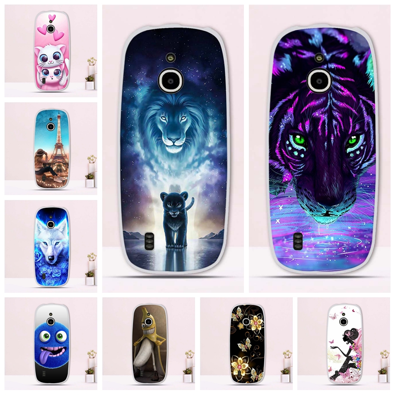 Phone <font><b>Cover</b></font> For <font><b>Nokia</b></font> <font><b>3310</b></font> <font><b>3G</b></font> 4G Case Silicone Soft TPU Protection Back Fundas For <font><b>Nokia</b></font> <font><b>3310</b></font> <font><b>3G</b></font> Case Animals Painting Patterned image