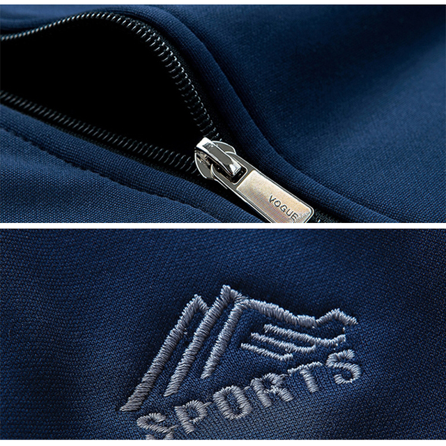 Brand Men's Home Sportswear Set Tracksuits Polyester Sporting Fleece Sweatshirt Male Two Piece Sets Gyms Fitness Clothing Dresy