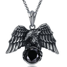 Retro unisex titanium steel necklace owl