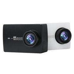 كاميرا شاومي YI 4K للرياضة 4K/30fps فيديو 12 ميجابكسل صورة خام مع EIS التحكم الصوتي Ambarella A9SE رقاقة 2.19 بوصة تعمل باللمس