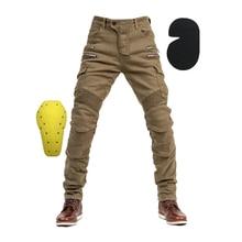 Motocyklowe dżinsy zewnętrzny ochronny sprzęt, męskie dżinsy motocyklowe, męskie dżinsy, jeansy dla motocyklistów