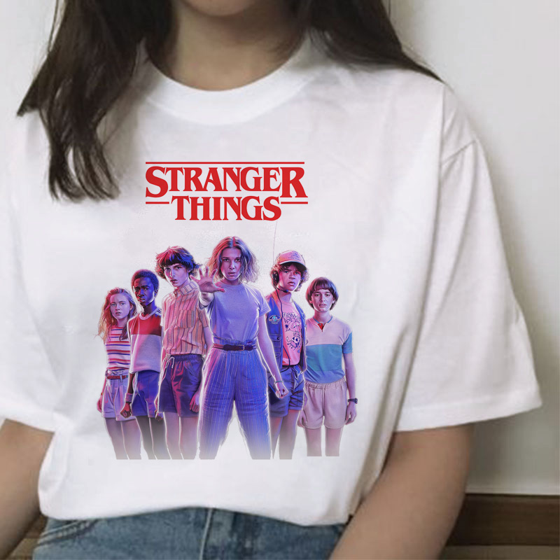 Stranger Things Season 3 T Shirt Women Harajuku New Tshirt Funny 90s Female Graphic T-shirt Ullzang Upside Down Top Tees Cartoon