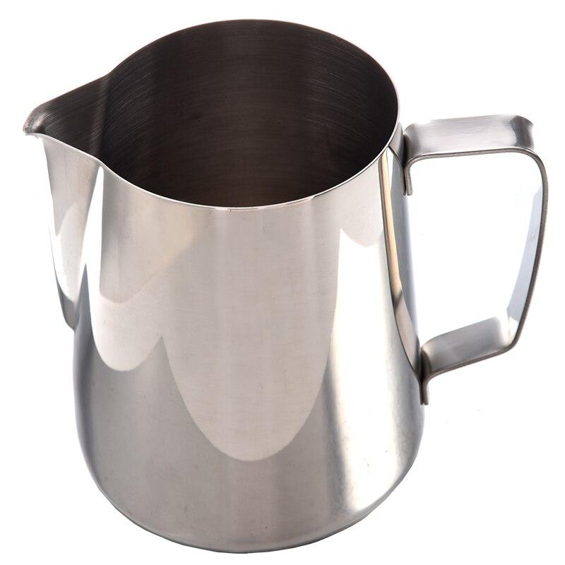 Kitchen Craft Coffee Garland Cup Latte Jug ,Stainless Steel (350ml)