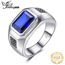 4ct Sapphire Spinel Engagement Wedding Ring For Men 925 Solid Sterling Silver Luxury  цена и фото