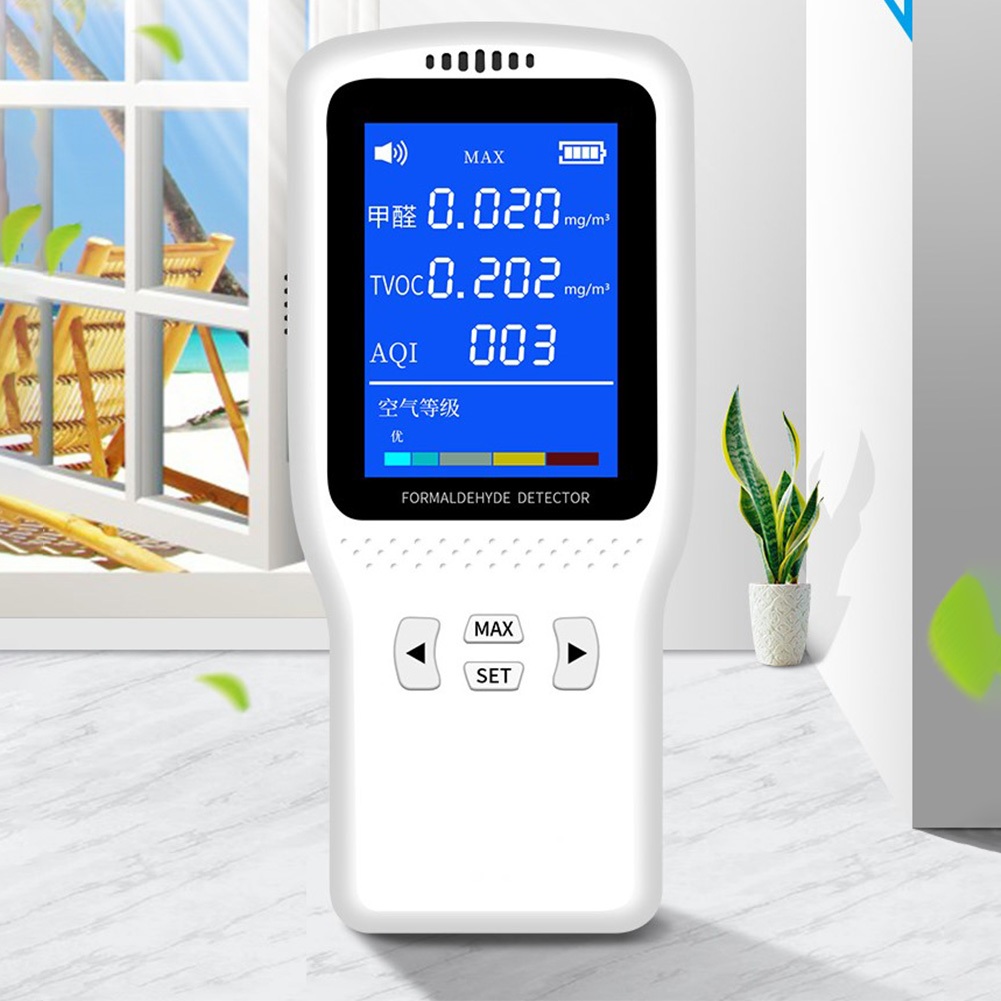 Tester Office Analyzer Accurate Professional Monitor Meter HCHO TVOC 3D Convection LED Display Air Quality Detector Digital Home