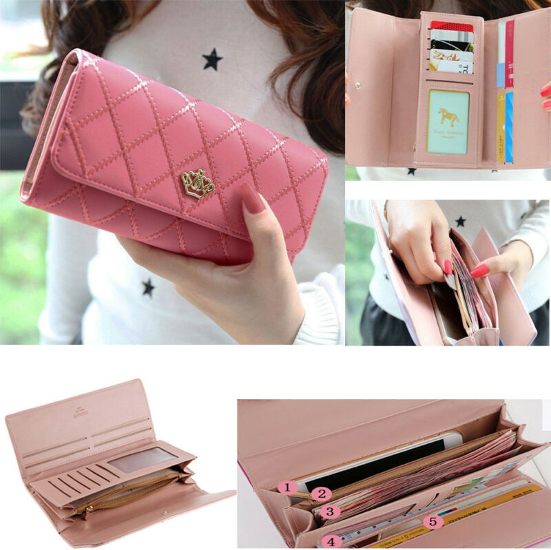 Hot Sale Women High Quality Long Wallets Double Zipper Wallet Big Capacity Purse Designer PU Leather Clutch Bag Card Holder