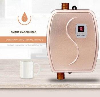 220V Electric Water Heater Faucet Household Bathroom Water Heater Instant Intelligent Speed Hot Calentador De Agua Hot Shower