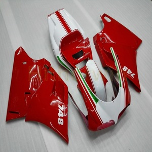 Image 1 - Bolts+Custom red white Motorcycle article for 748 916 996 1996 1997 1998 1999 2000 2001 2002 ABS motor Fairing kit M2
