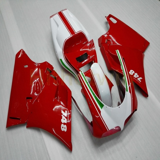 Bolts+Custom red white Motorcycle article for 748 916 996 1996 1997 1998 1999 2000 2001 2002 ABS motor Fairing kit M2