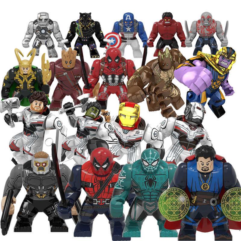 Wielkie figury Marvel Avengers Endgame Thanos Venom Carnage Energy Hulkbuster rękawice Batman Iron man cegły klocki