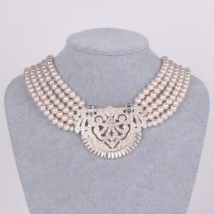 Image 4 - HW naszyjnik z pereł, akcesoria dla druhen ślubnych, akcesoria imprezowe, prezenty urodzinowe dla dziewczyn