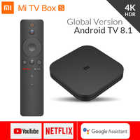 Original Global Xiaomi Mi TV Box S 4K HDR Android TV 8.1 Ultra HD 2G 8G WIFI Set Top Box Google Cast Netflix IPTV 4 Media Player