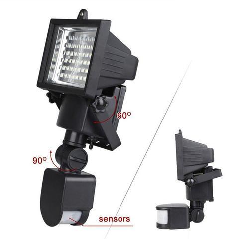 sensor de movimento jardim luz spotlight super