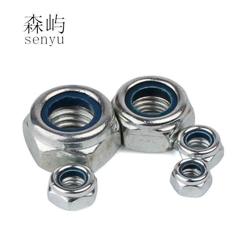acero galvanizado 10 piezas contratuercas DIN 985