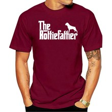 Pai Paio Rottie Pai Masculino incisore Rottweiler t-masculina 2021 t-shirt -preto