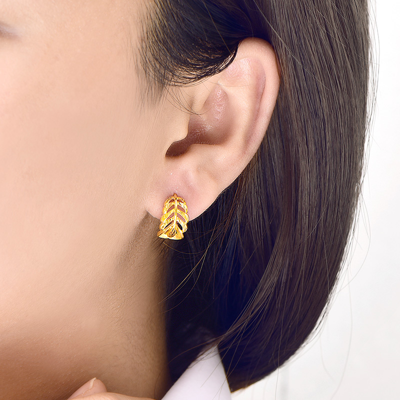 Image 4 - SFE 24K Pure Gold Earring Real AU 999 Solid Gold Earrings Nice Good  Upscale Trendy Fine Jewelry Hot Sell New 2020Earrings   -