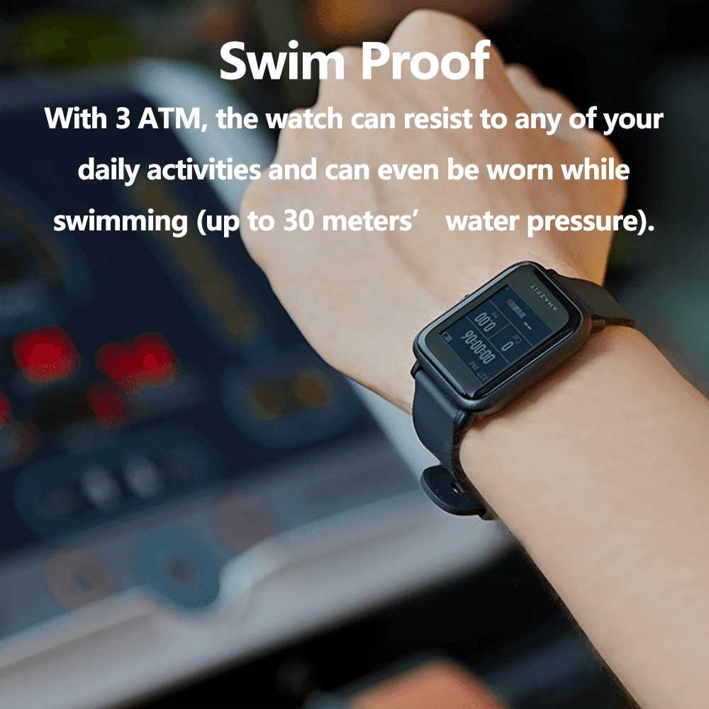 הגלובלי גרסה Amazfit ביפ לייט חכם שעון קל smartwatch עם 45 ימים המתנה GPS 3 כספומט עמיד למים