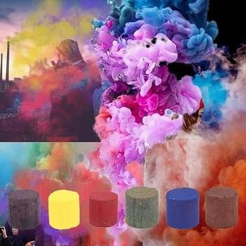 Colorful Smoke Pills Combustion Smog Cake Effect Smoke Bomb Pills Portable Studio Car Photography Prop Halloween Paintball Toy