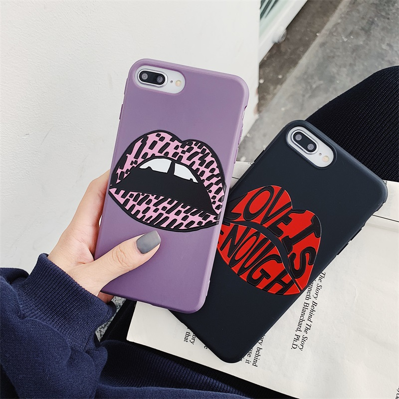 <font><b>Sexy</b></font> woman lips soft silicon cover <font><b>case</b></font> for apple <font><b>iphone</b></font> 6 6S plus <font><b>7</b></font> 7plus 8 8plus X XS XR 11 11Pro MAX Candy couple phone coque image