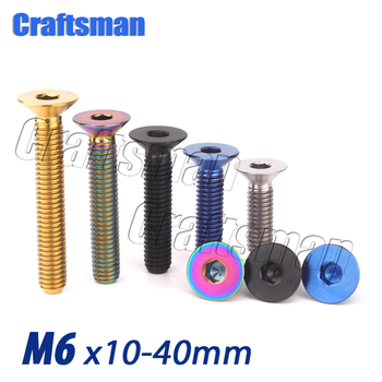 Tornillo de disco de freno de titanio Ti M6 X 10, 15,...