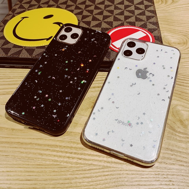 Voor Apple iPhone 6 6s 7 8 Plus 11 Pro 10 X XS XR Max Bling Glitter Ster Maan sparkle Pailletten Soft Clear Silicone TPU Case Cover 2