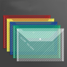 10 thickened transparent PP waterproof document envelopes with snap-on document pockets