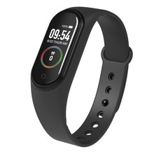 M4 Fitness IP68 Waterproof Pedometer Smartwatch, Heart Rate Sleep Quality Monitoring Multi-Function Sport Smart Bracelet