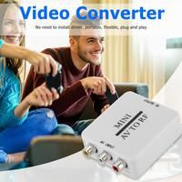 Mini RCA AV CVSB zu RF HD Video Converter Unterstützung RF 67.25/61,25 MHz TV Switcher niedrigen Power Verbrauch kein Netzteil