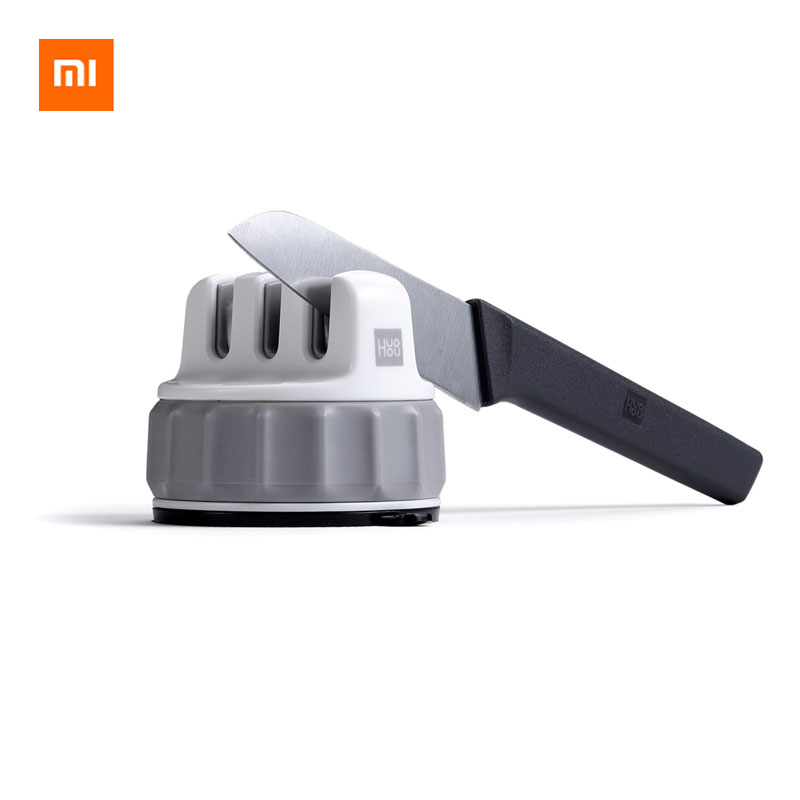 Xiaomi Mijia HUOHOU Fixable Sharpen Stone Trible Wheel Whetstone Sharpeners Sharpening Tool Grindstone From Xiaomi Youpin