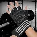 Перчатки для тяжелой атлетики, мужские и женские перчатки для тренировок, штанги, перчатки для тренажерного зала, Перчатки для фитнеса с под...