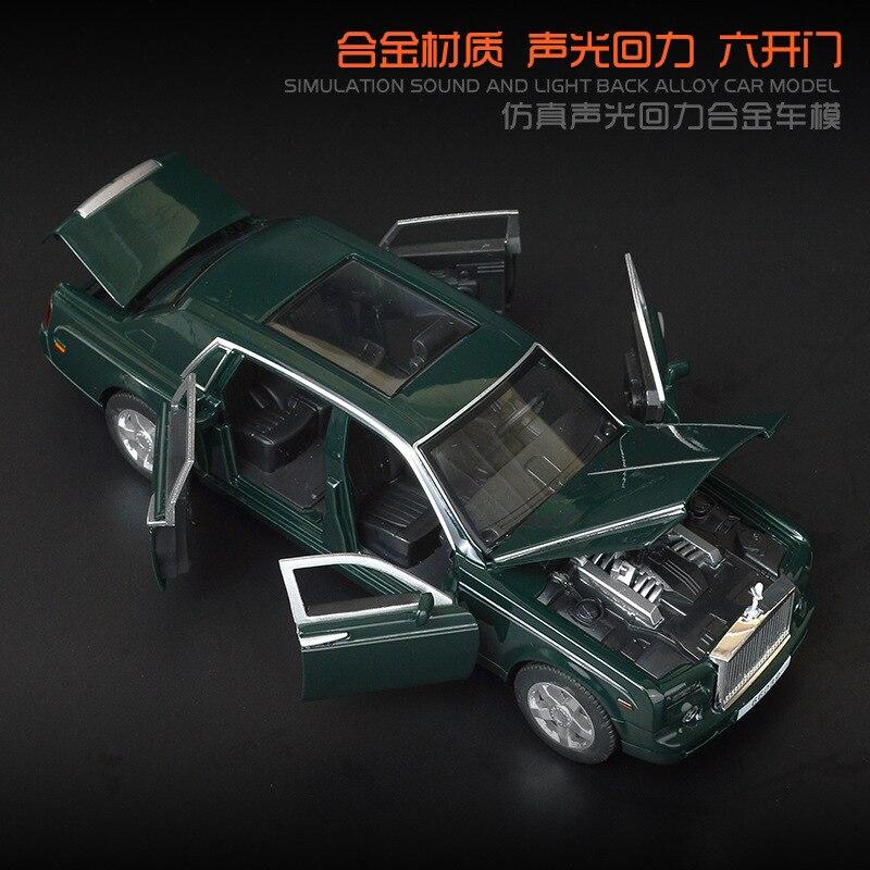 Alloy 1:32 Model Phantom Car Models Sound Light Boy Toys Car 6 Open Doors Kid's Toy Simulation Engine Power Sound And Car Trunk