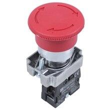 цена на 22mm NC Red Mushroom Emergency Stop Push Button Switch 600V 10A