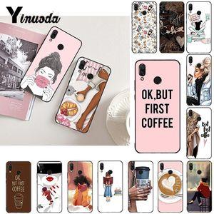 Чехол для телефона Yinuoda OK but First Coffee Girl Boss для Xiaomi Redmi Note 7 8T Redmi 5plus 7A 6A Note8 4X Note8Pro