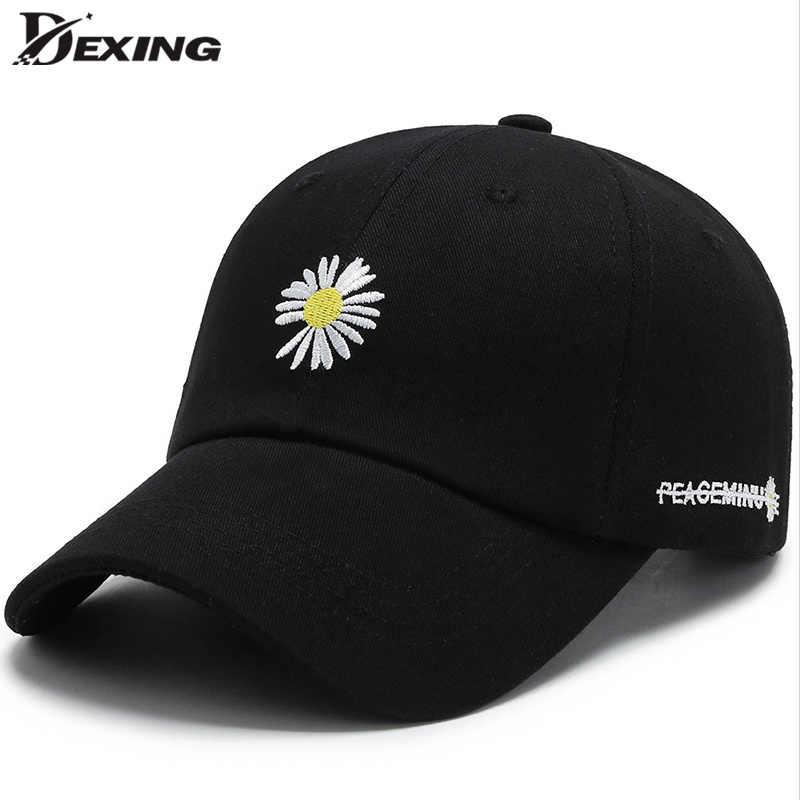 Toptan papatya beyzbol şapkası erkekler kadınlar için spor Snapback şapka yaz nakış kapaklar açık Gorras gömme Casquette baba şapka