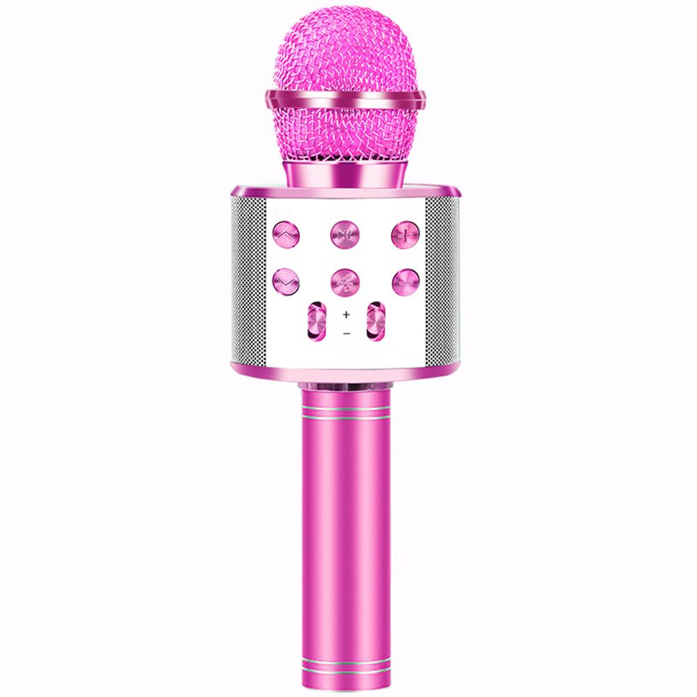 Children Wireless Karaoke Microphone Bluetooth Colorful Lights Mobile Phone Karaoke Microphone For Child Kids Birthday Gift